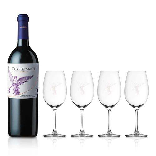 Montes-Purple-Angel-con-4-copas-del-angel-de-cristal---X1